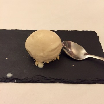 Delicious whisky & white chocolate sorbet