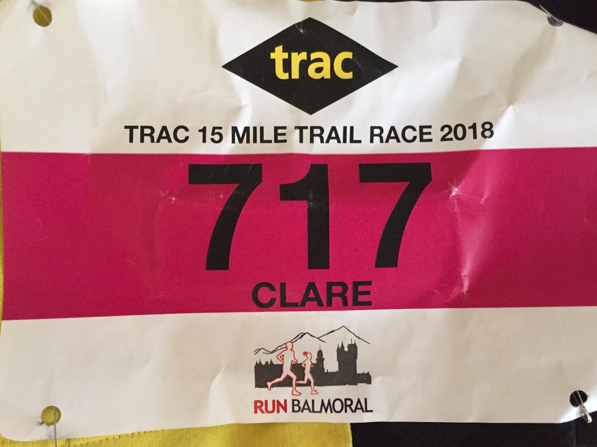 Trac 15 Mile Trail Race, Run Balmoral