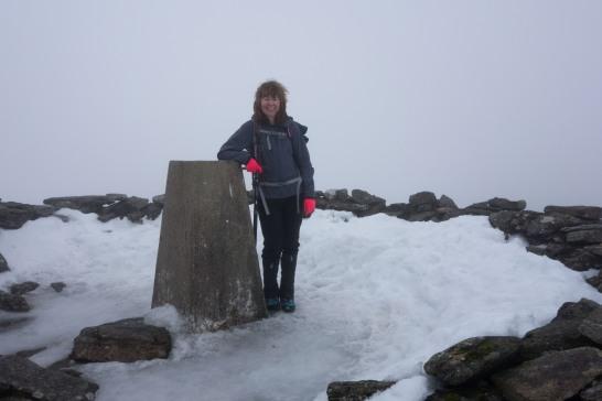 Summit of Meall Ghaordaidh