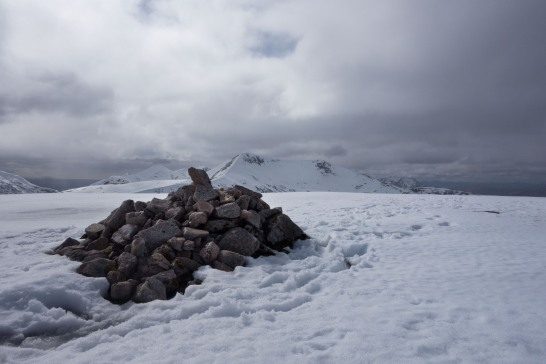Summit Cairn on Meall nan Eun