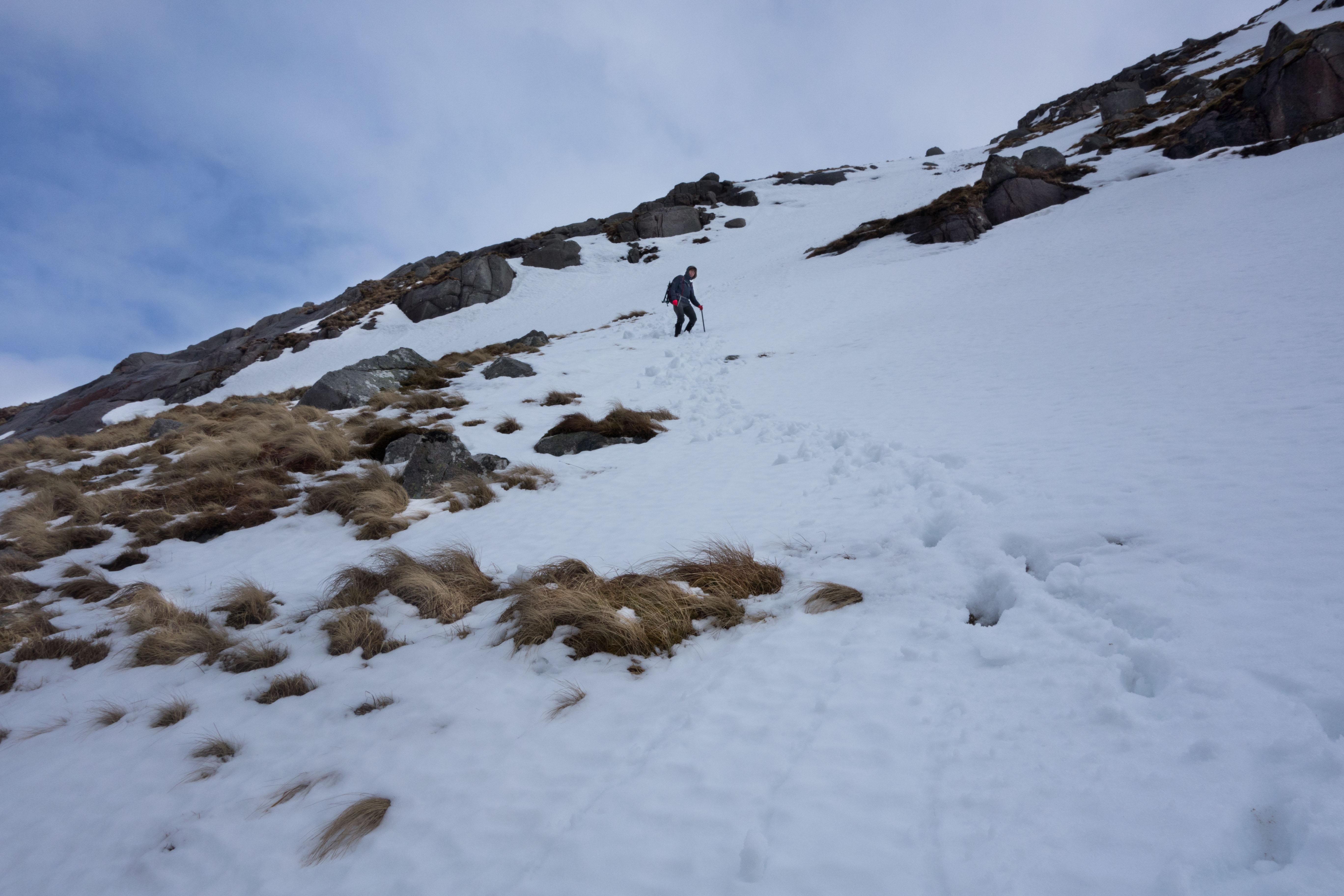 Steep descent from Meall nan Eun