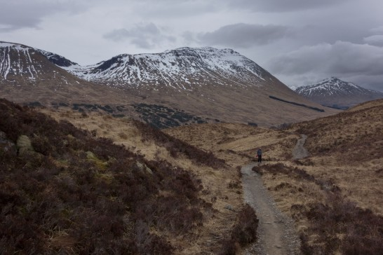 Heading up to the Bridge of Orchy viewpoint