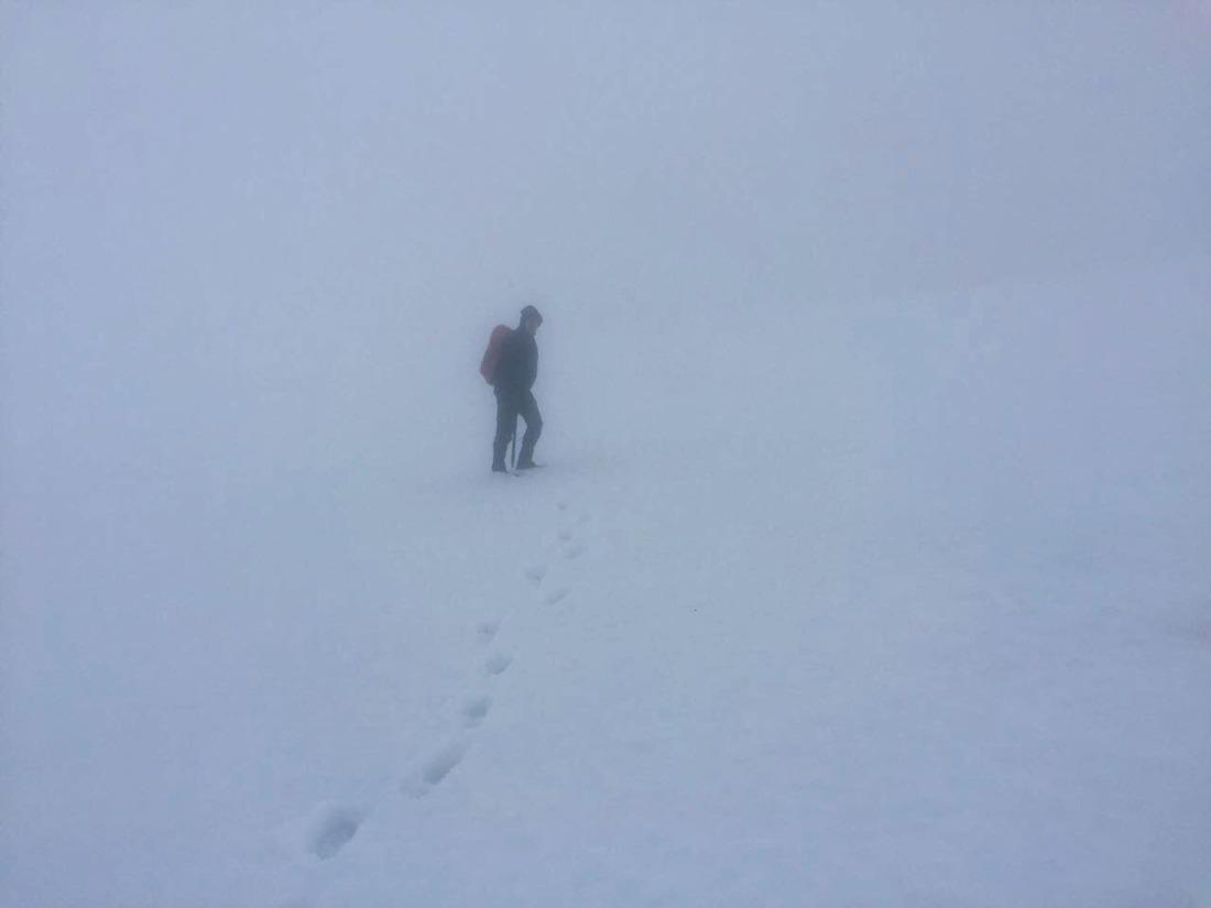 Heading up Beinn a'Chreachain