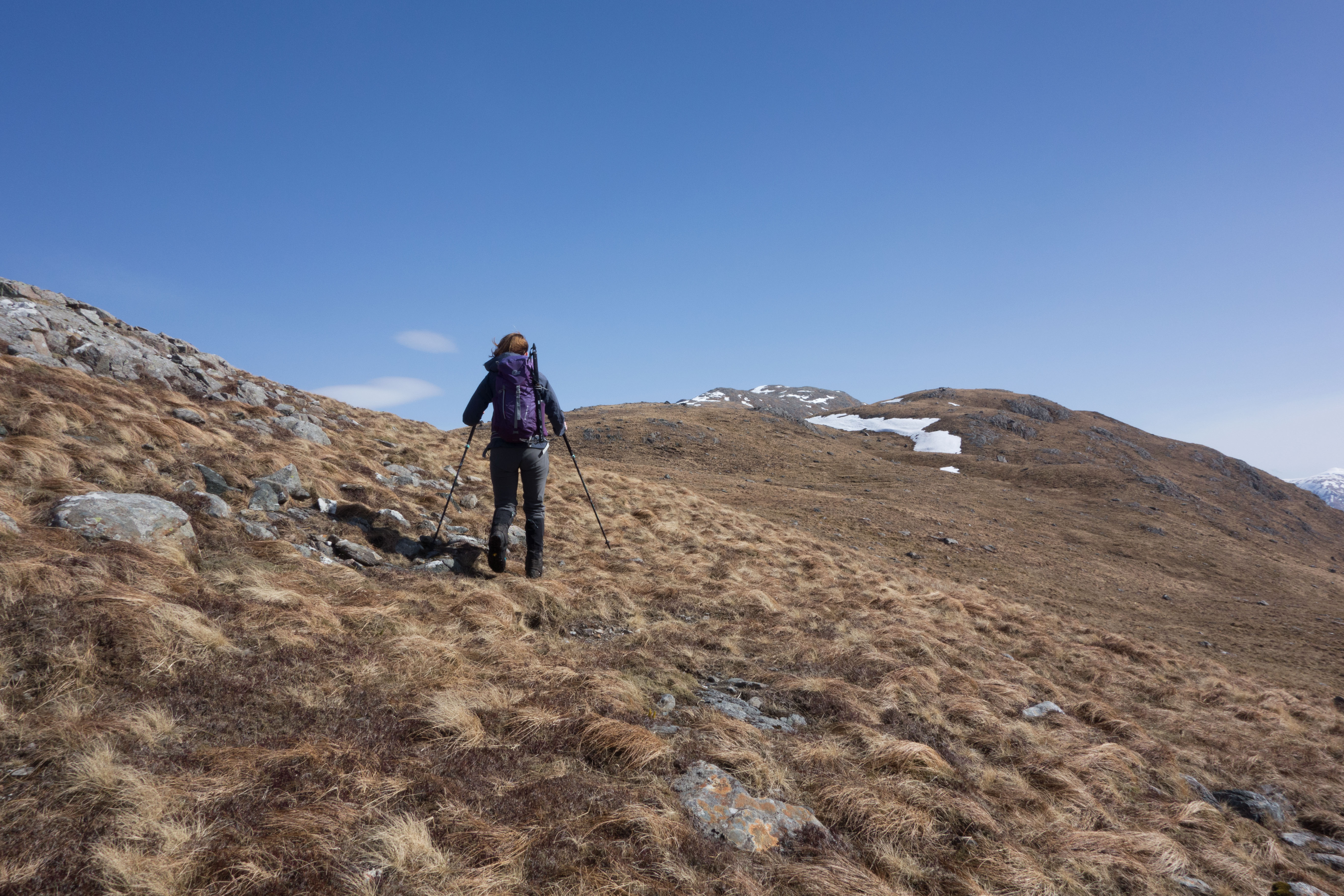 Heading up to Beinn Fhionnlaidh, decent paths for a munro