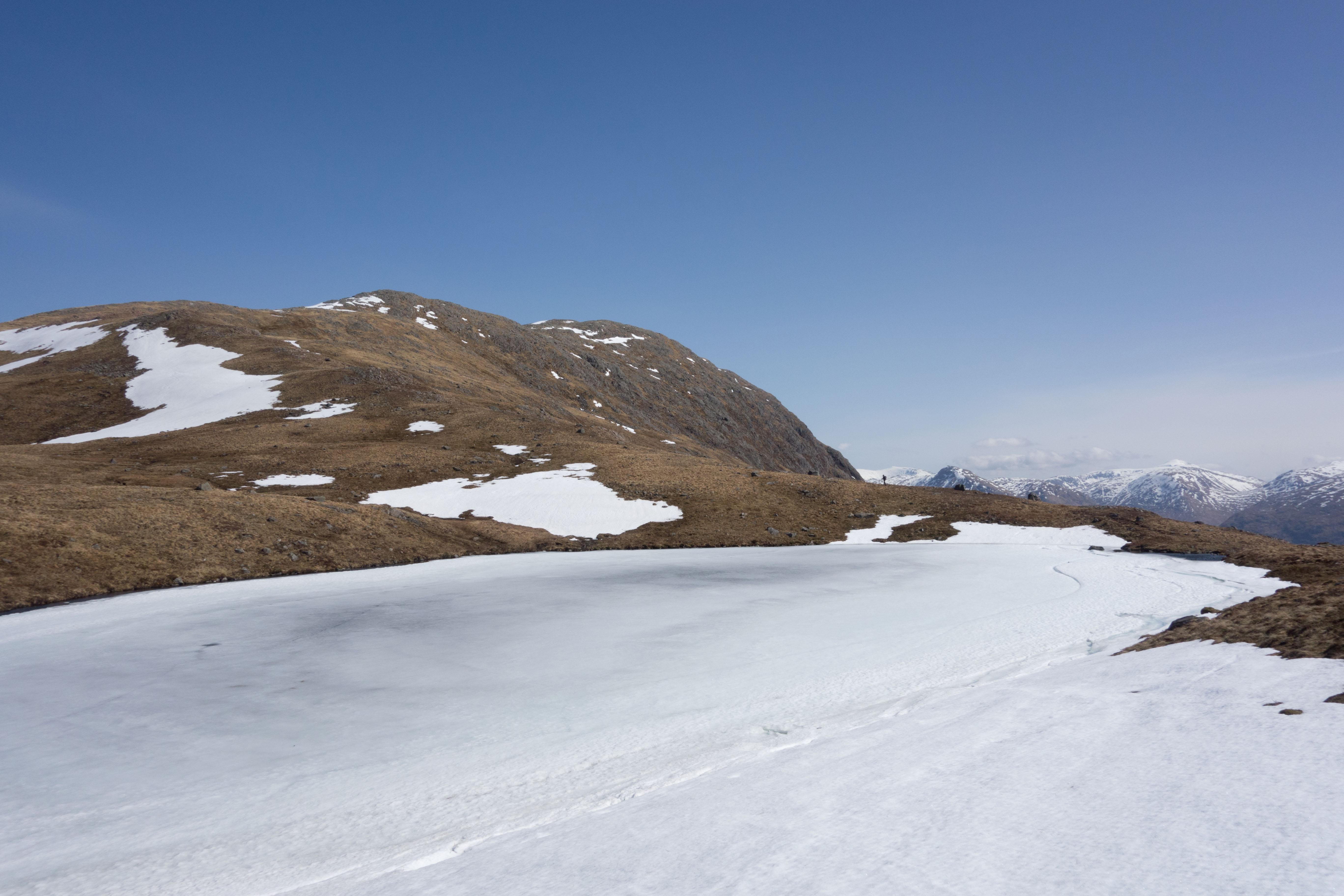 Beinn Fhionnlaidh, summit cairn approaching