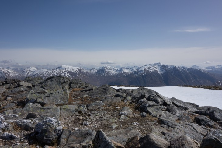 Spectacular views from Beinn Fhionnlaidh on a clear day