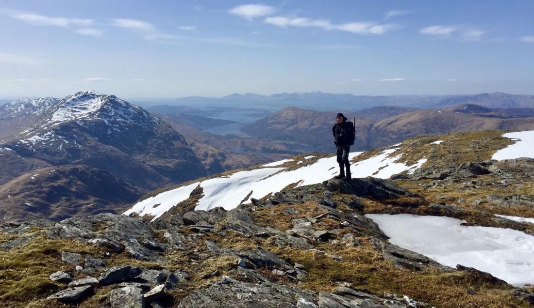Beinn Fhionnlaidh, descent from the plateau