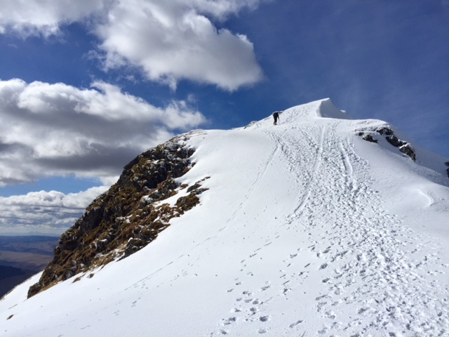 Final pull up to the summit of Beinn Bhuidhe