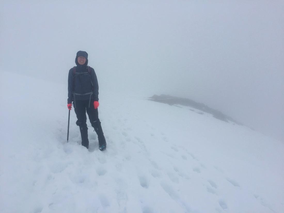 Ben Challum in fog