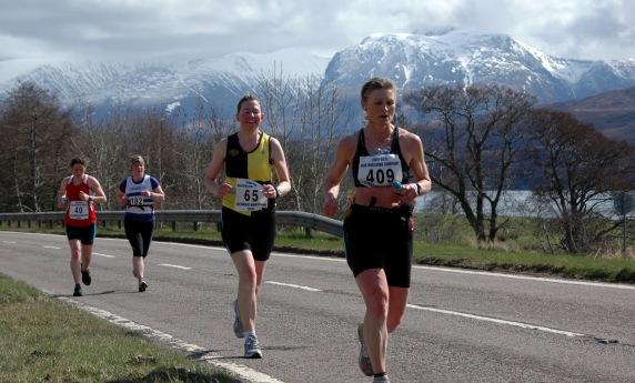 Heading out from Fort William: Lochaber Marathon (2010)
