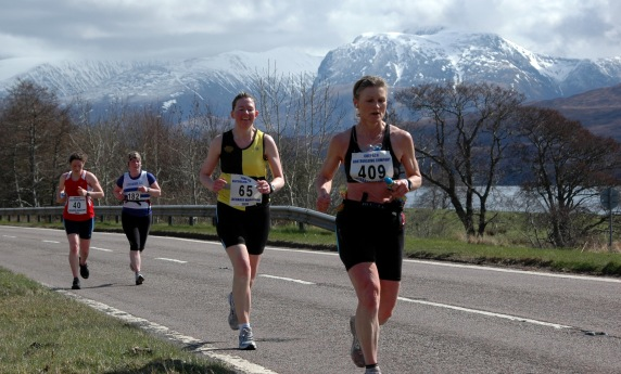 Heading out from Fort William: Lochaber Marathon (2010)