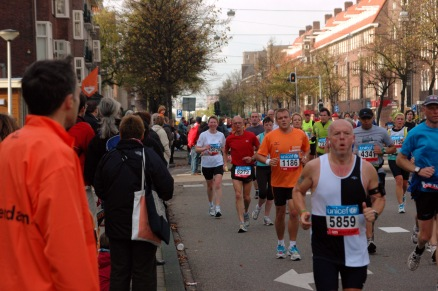 Amsterdam Marathon (2008) - a few miles into the run