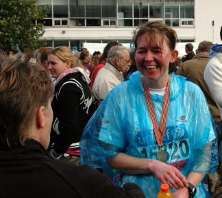 Overcome - never thought I'd run a marathon! (Amsterdam, 2008)