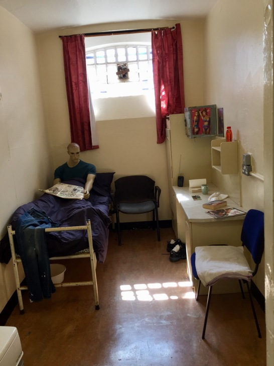 Cell in the unit for prisoners who could not be held alongside the majority