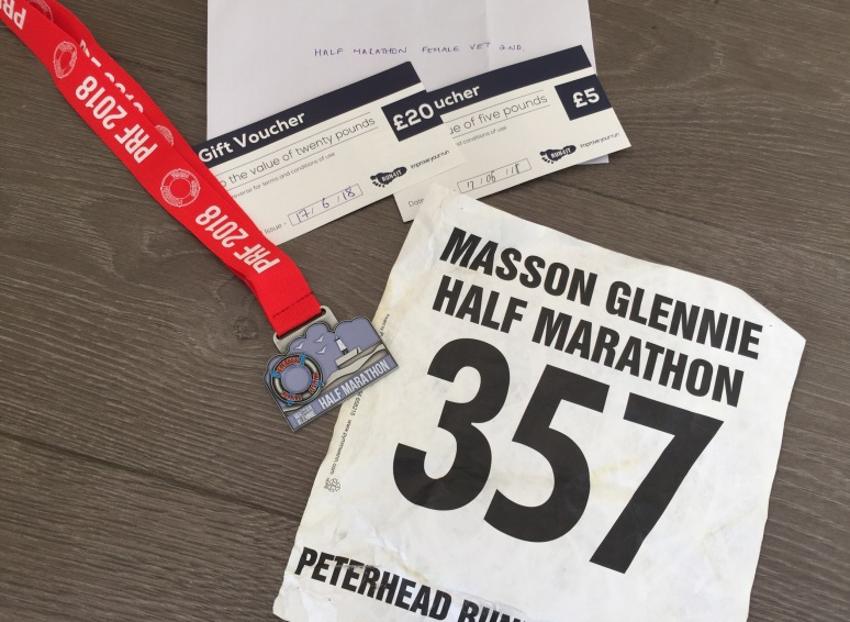 Lovely medal from Masson Glennie Peterhead Half Marathon