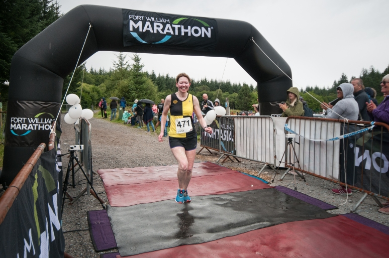 Finishing 2018 Fort William Marathon