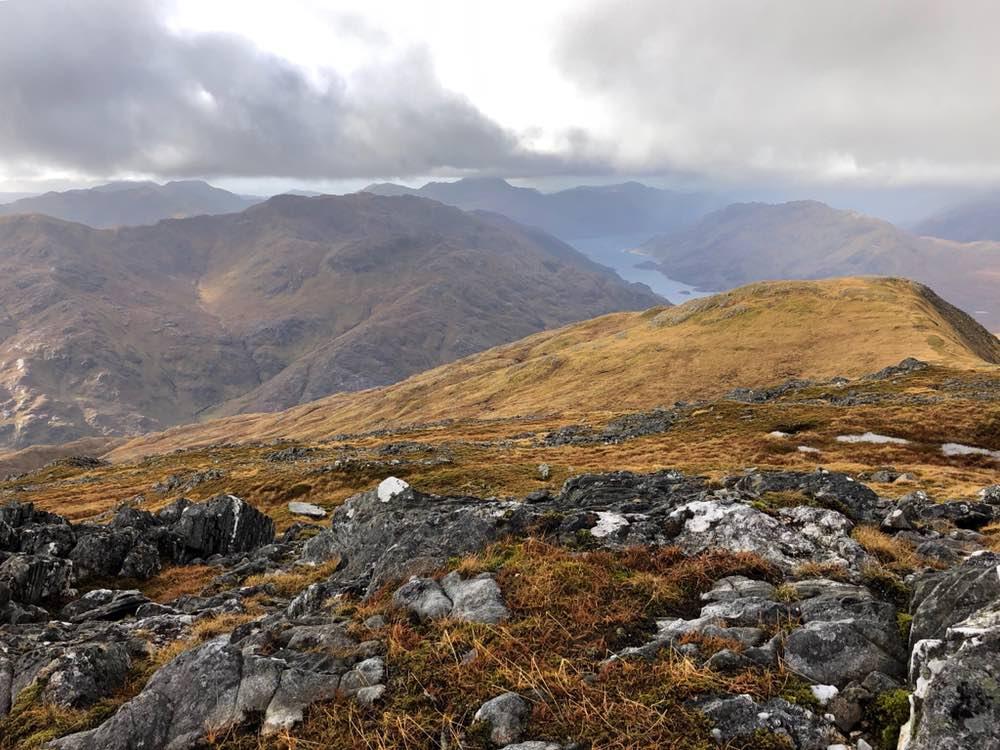 Summit view from Sgurr a'Mhaoraich