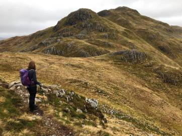 Looking to A'Ghlas-beinn
