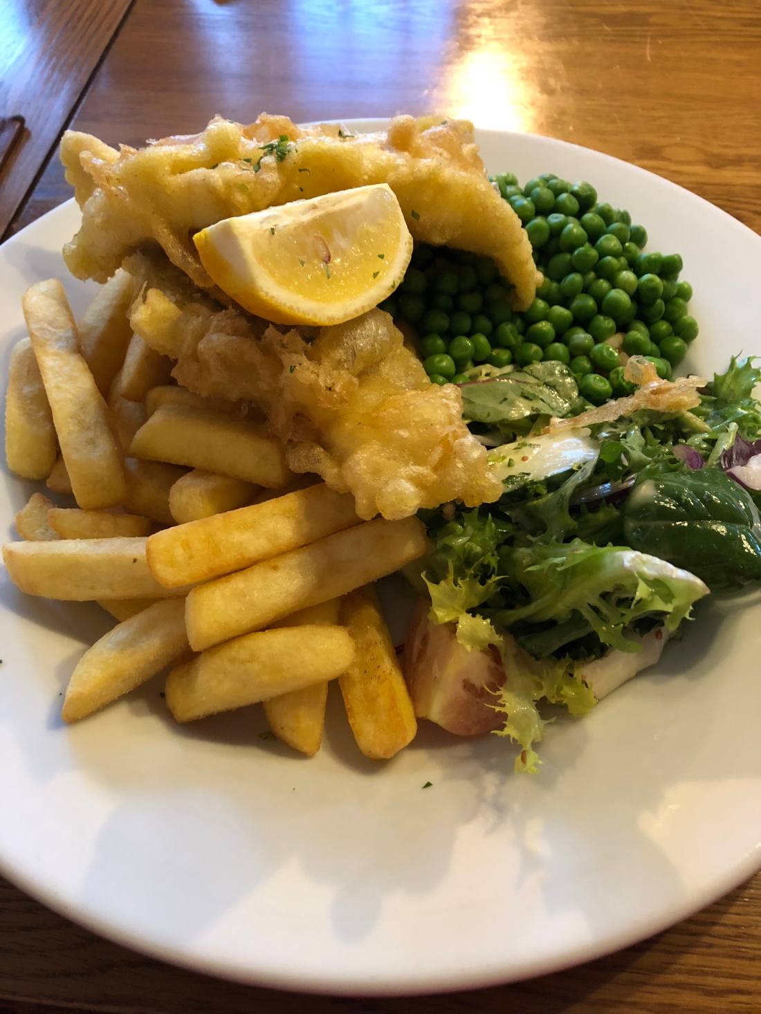 Fish & chips at the Clunaie Inn