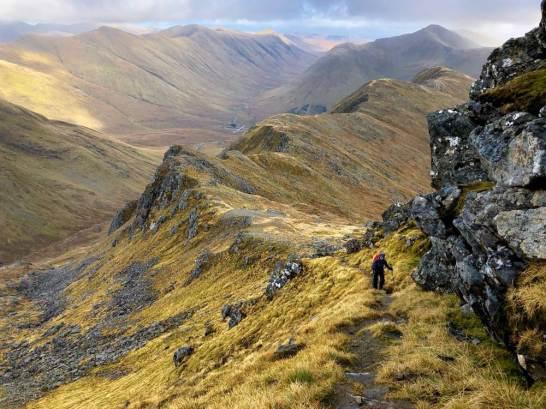 Heading up the ridge to Sgurr a'Mhaoraich