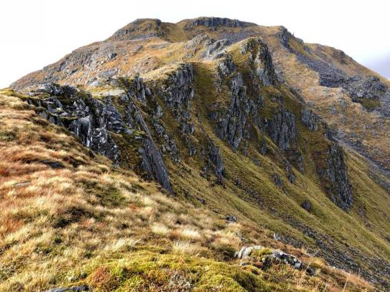 Ridge to Sgurr a'Mhaoraich, not as daunting as it looks