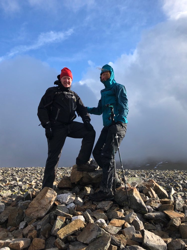 Bruce & I on the summit of Carn an Tuirc
