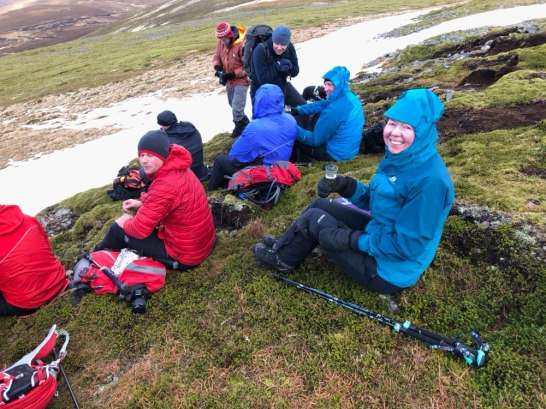 Enjoying the champagne on Carn an Tuirc
