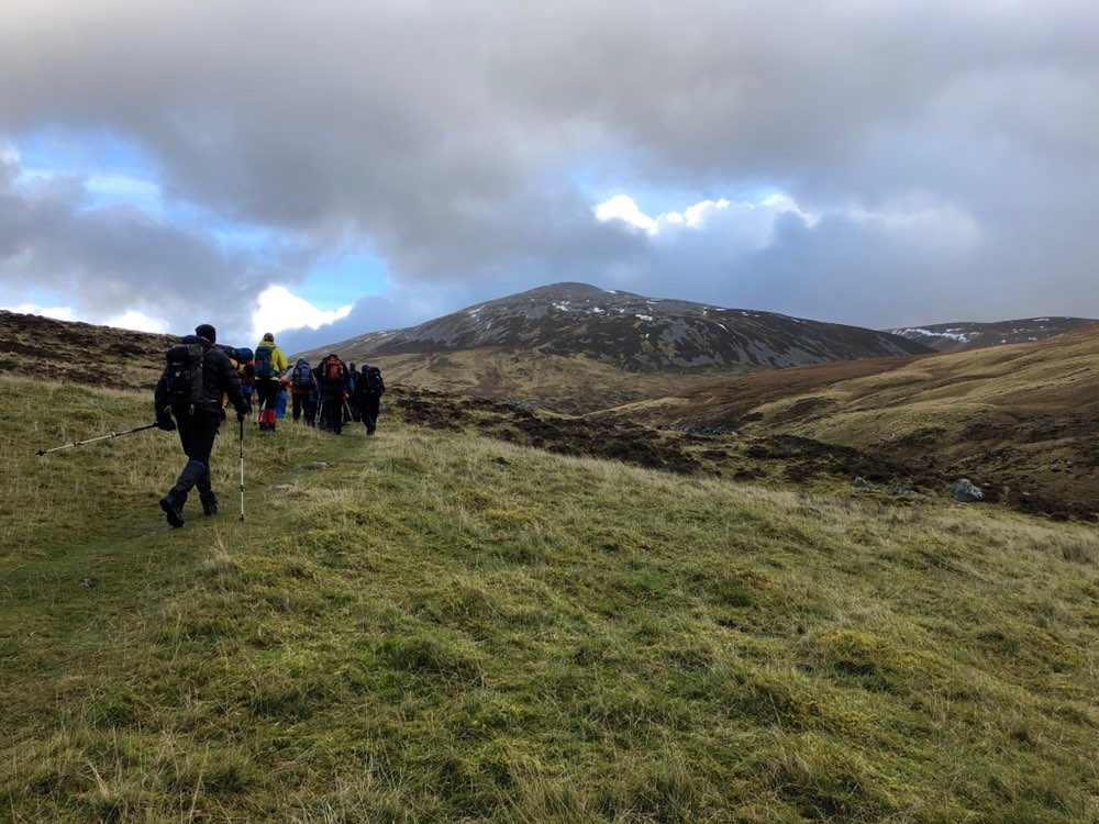 Heading up Carn an Tuirc