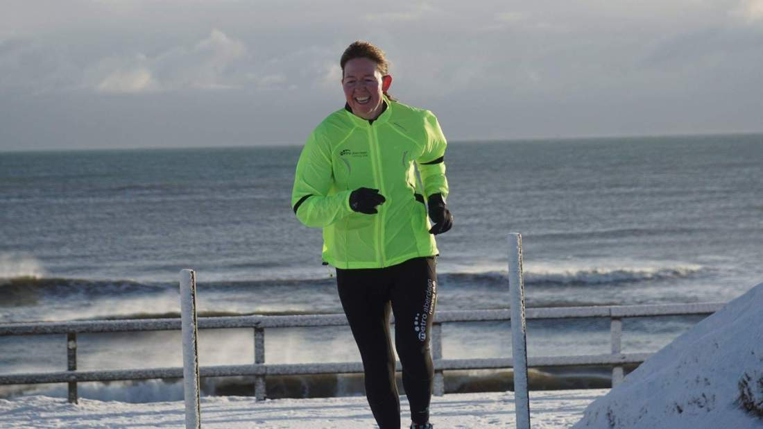 Running to start Aberdeen parkrun - late!