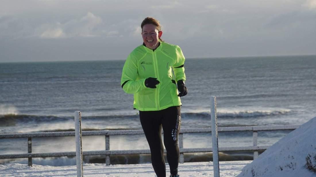 Running to start Aberdeen parkrun - late!