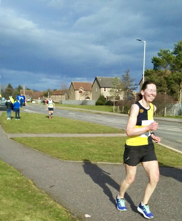 Tough finish into the wind at the 2019 Kinloss to Lossiemouth Half Marathon