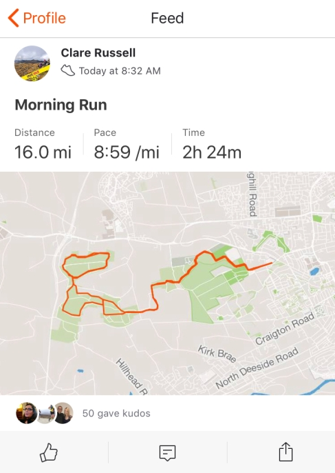 First 16 miler of the Hanson plan