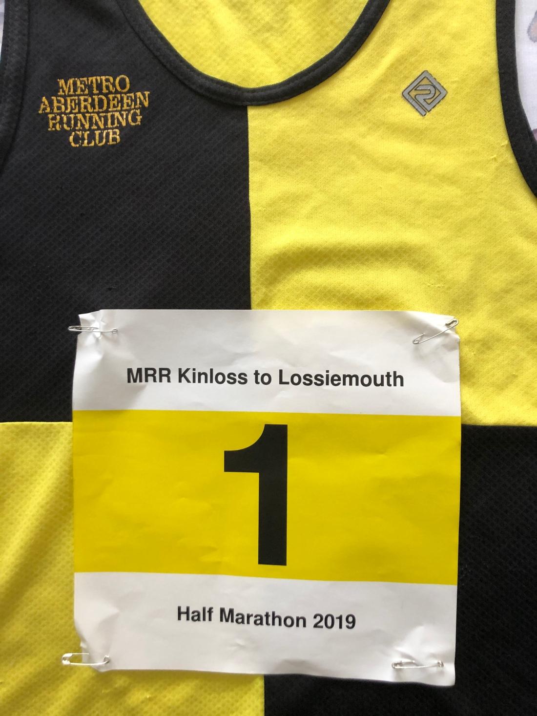 Number 1: Metro Aberdeen do Kinloss to Lossiemouth Half Marathon