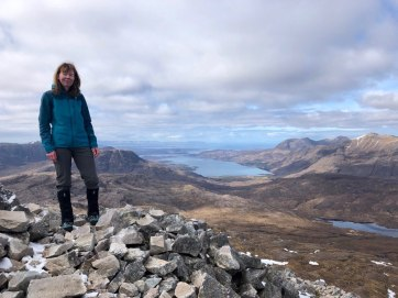 Summit of Beinn Liath Mhor overlooking Torridon