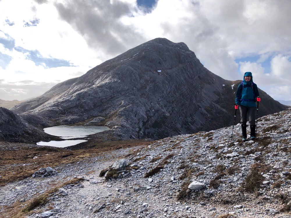 Bealach at Maol Chean-dearg with the nearby Corbett in the background