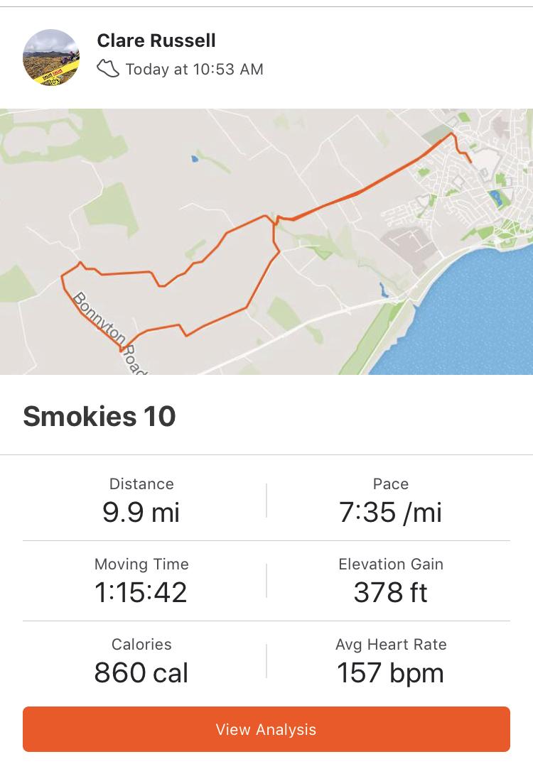 Smokies 10 Route