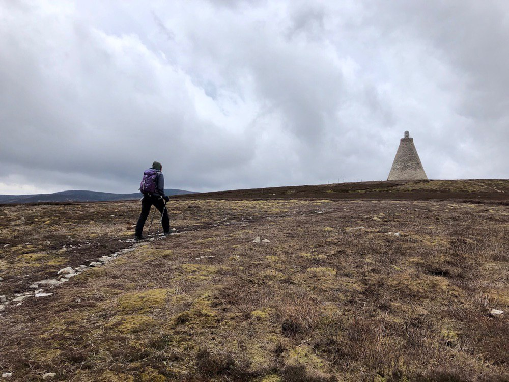 Approaching the monument, Hill of Rowan
