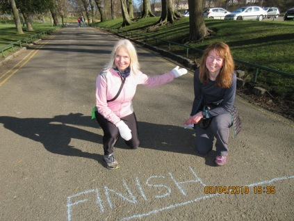 Chalking out the finish line: 5k Fun Run