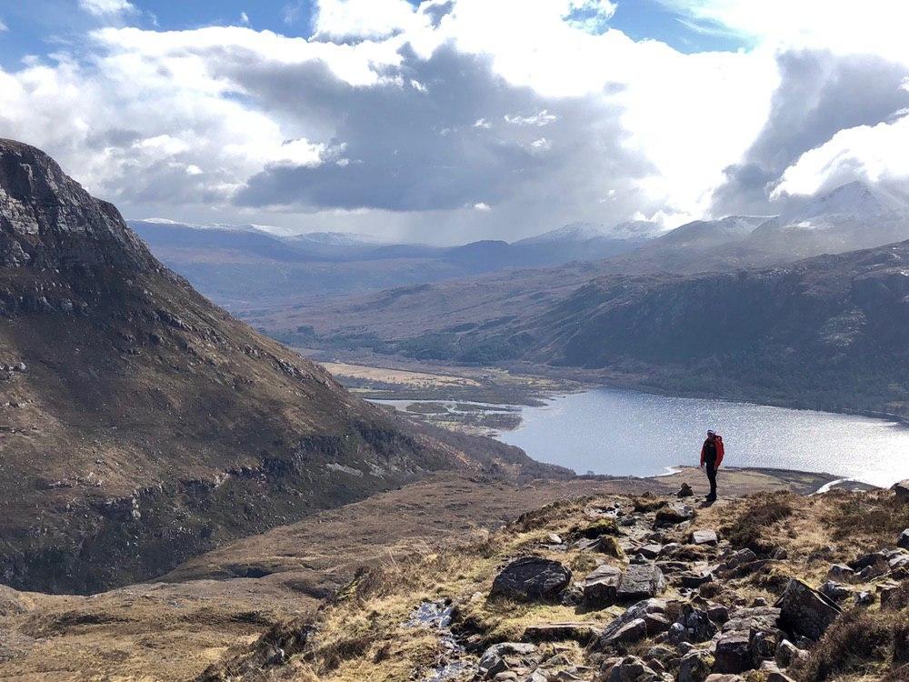 Loch Maree on the descent from Slioch