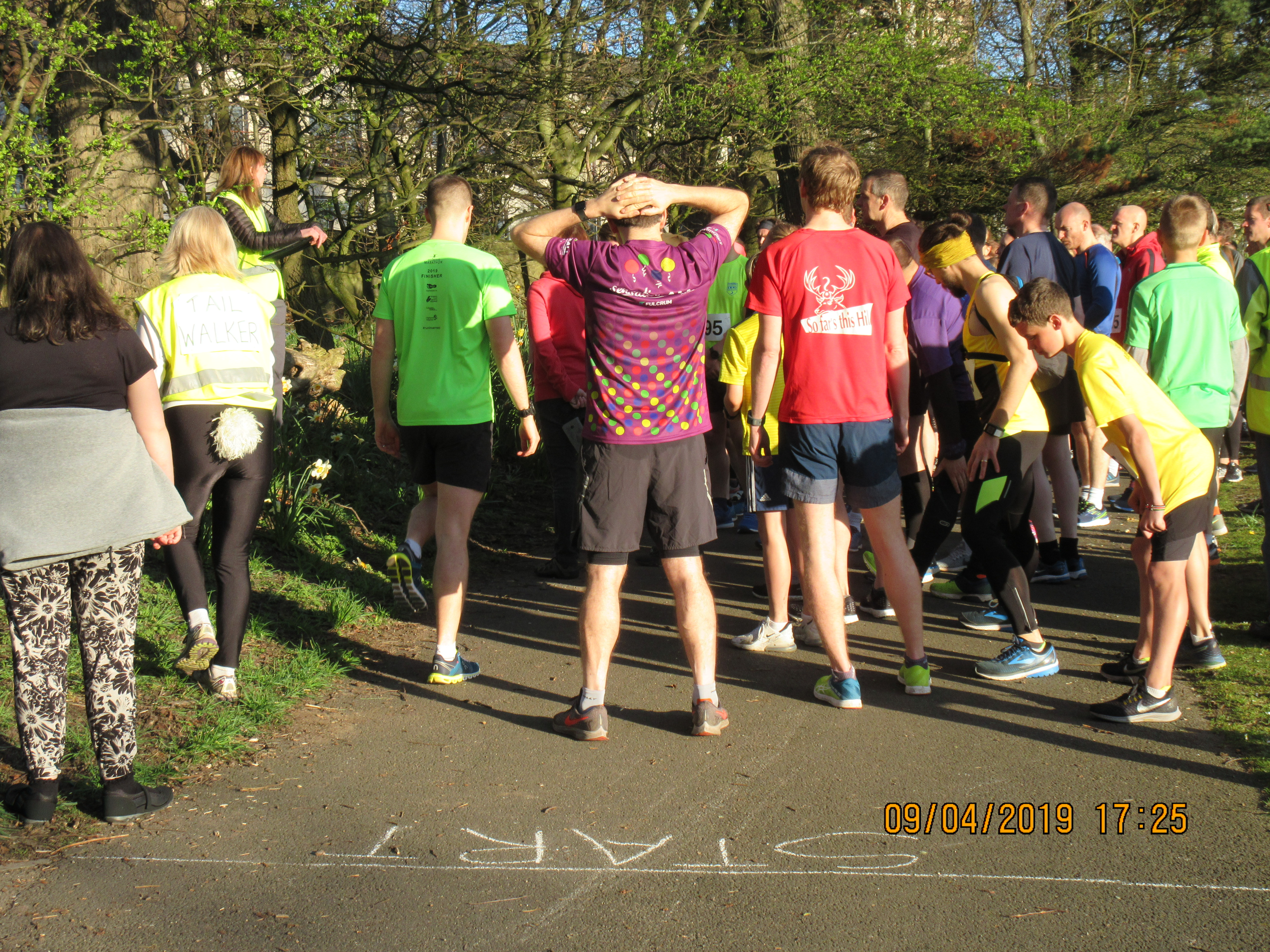 Awaiting the call to the start: Friends of Orchard Brae Fun Run