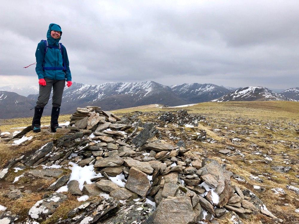 Summit cairn: Moruisg