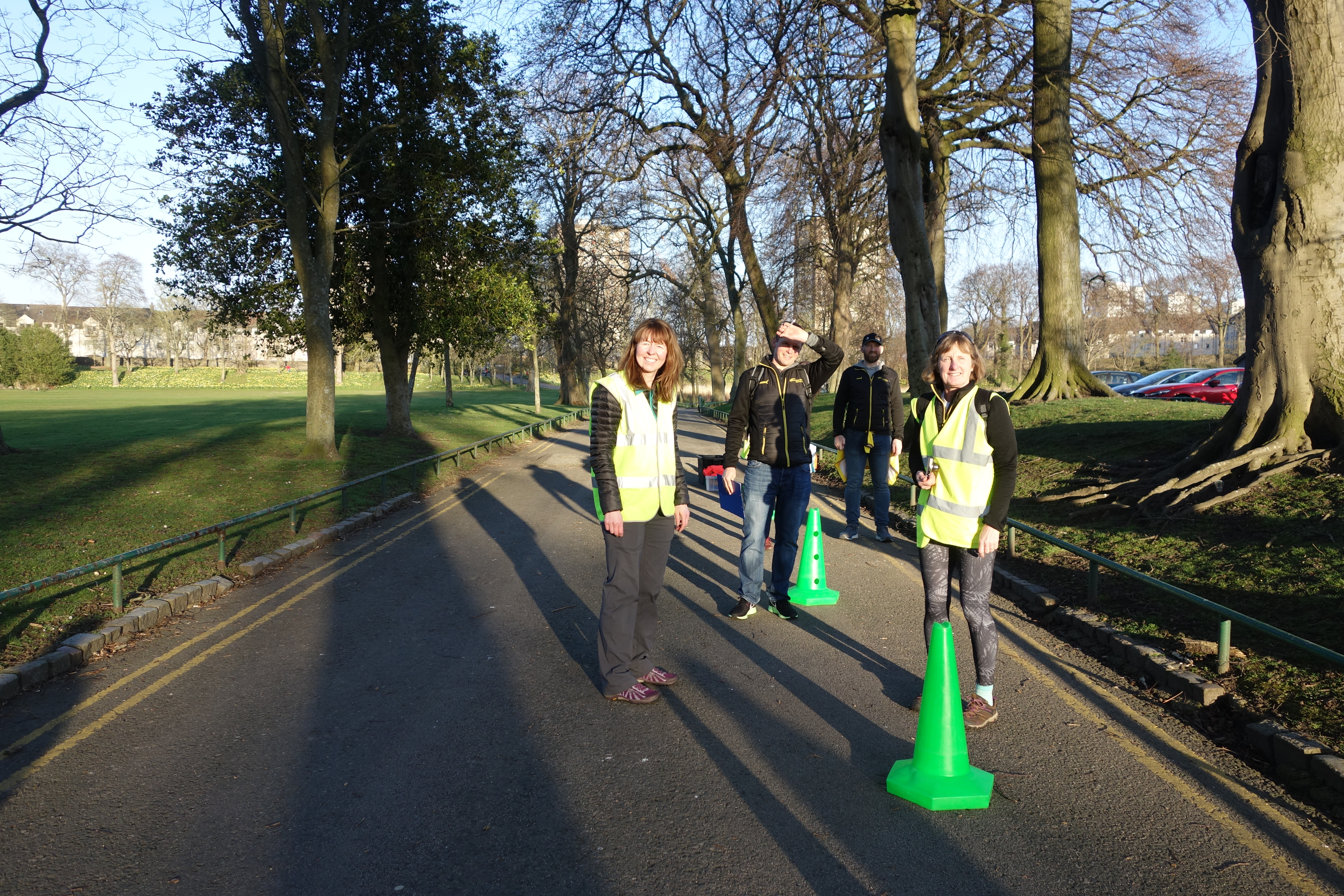 Volunteers at the Finish: Friends of Orchard Brae Fun Run