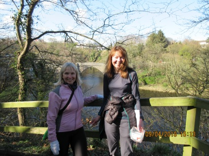 Marking the route around River Don