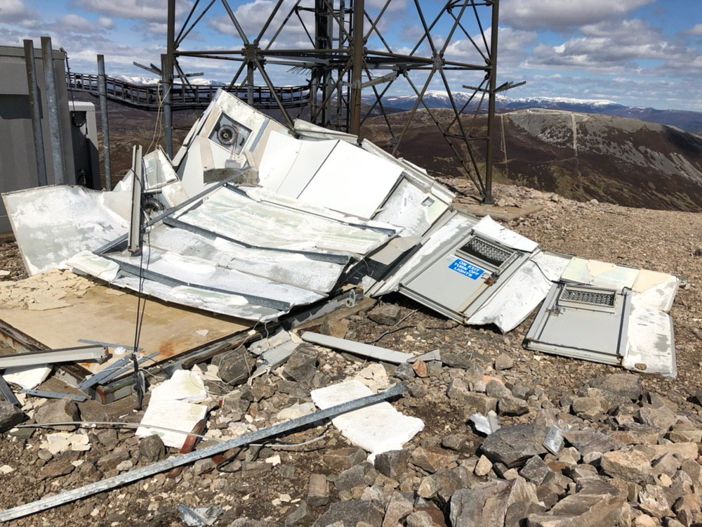 Debris on The Cairnwell