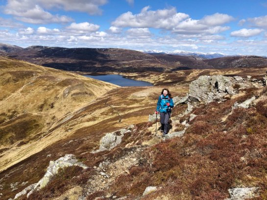 Heading from Carn Aosda to Carn a' Gheoidh