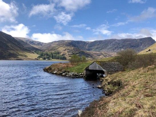 Loch Lee boat house