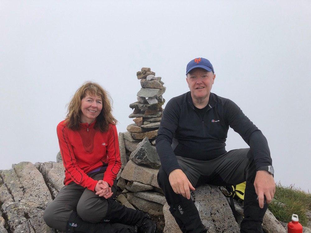 Summit cairn: Sgor na h-Ulaidh