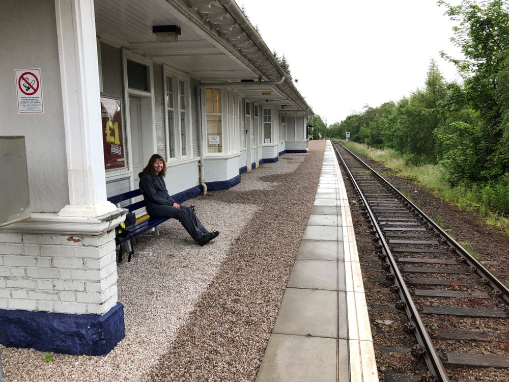 Awaiting the train to Corrour from Tyndrum Upper Station