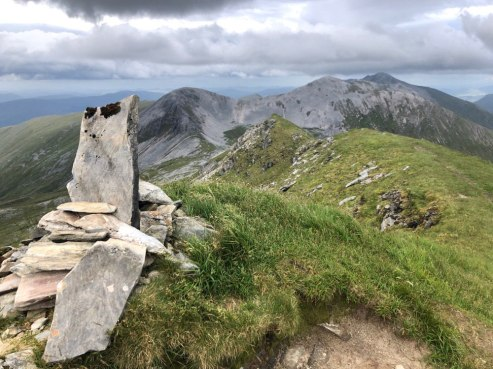 Summit cairn, Sgurr Choinnich Mor, Grey Corries