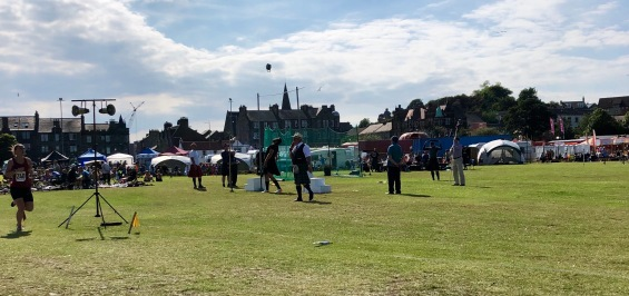 Swinging heavy weights at Burntisland Highland Games